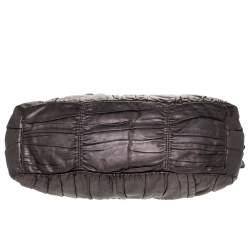 Prada Metallic Nappa Gaufre Leather Medium Datchel