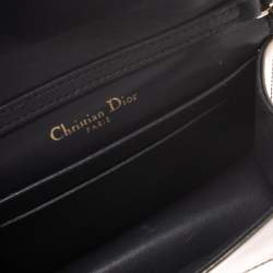 Dior Metallic Gold Micro Cannage Patent Leather Baby Diorama Shoulder Bag