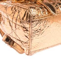 Dior Metallic Peach Cannage Patent Leather Stardust Backpack