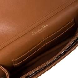 Dior Tan Leather Mini Studded Diorama Chain Shoulder Bag