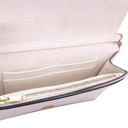 Dior White Leather Stars Wallet On Chain Bag