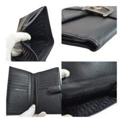 Dior Black Leather Flap Wallet