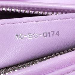 Dior Lavender Cannage Leather Medium Lady Dior Tote