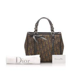 Dior Brown Oblique Canvas Romantique Tote