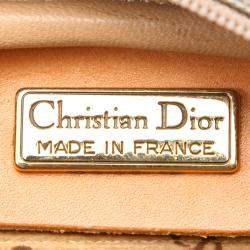 Dior Brown Coated Canvas Crossbody Bag