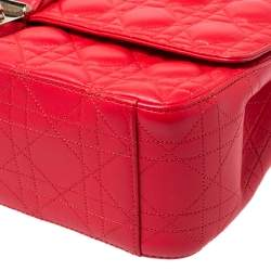 Dior Crimson Red Cannage Leather Large Miss Dior Flap Bag