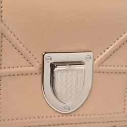 Dior Beige Leather Diorama Trifold Wallet