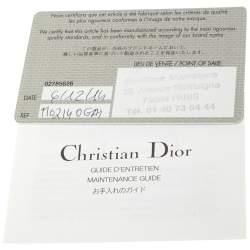Dior Beige Cannage Leather Miss Dior Medium Flap Bag