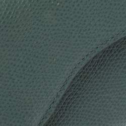 Dior Green Leather Saddle Trifold Wallet