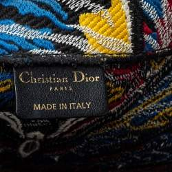 Dior Multicolor Butterfly Embroidered Canvas Book Tote