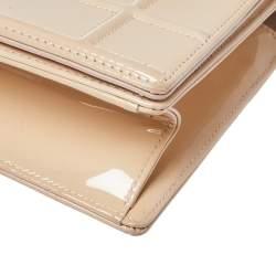 Dior Beige Patent Leather Medium Diorama Shoulder Bag