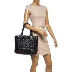 Dior Black Cannage Leather Medium Soft Lady Dior Tote