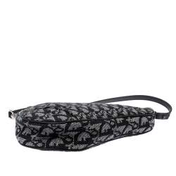 Dior Black Diorissimo Canvas and Leather Saddle Bag