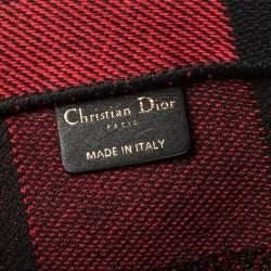 حقيبة يد ديور بوك كانفاس بليد سوداء / حمراء