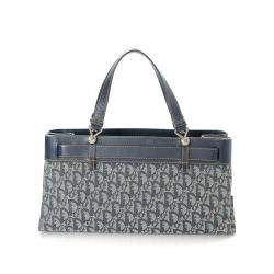 Dior Navy Trotter Canvas Bag