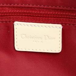 Dior Red/White Dior Oblique Canvas Crossbody Bag