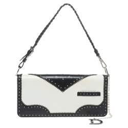 Dior Tri Color Patent Leather and Satin D'Trick Wingtip Baguette Bag