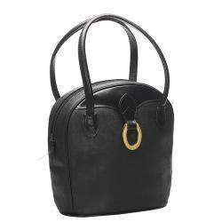 Dior Black Oblique Canvas Shoulder Bag