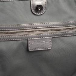 Dior Silver Cannage Coated Canvas and Leather Medium Panarea Tote