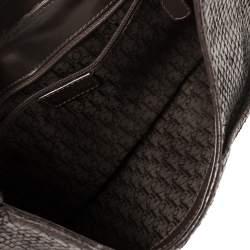 Dior Dark Brown Snakeskin Buckle Flap Hobo