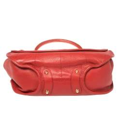 Dior Red Leather Crystal Embellished 61 Hobo