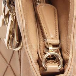 Dior Beige Cannage Leather Granville Bag