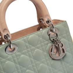 Dior Multicolor Cannage Leather Medium Lady Dior Tote
