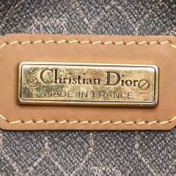 Dior Brown/Dark Brown Honeycomb Canvas Boston Bag