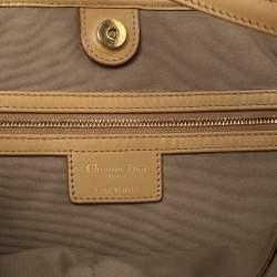 Dior Beige Cannage Coated Canvas and Leather Medium Panarea Tote