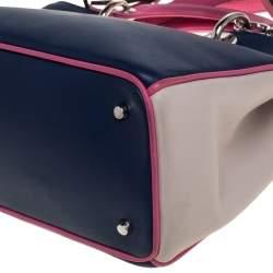 حقيبة يد ديور ديوريسيمو صغيرة جلد ثلاثي اللون