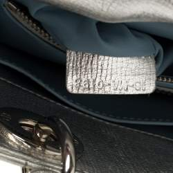 Dior Metallic Silver Leather Small My Lady Dior Tote