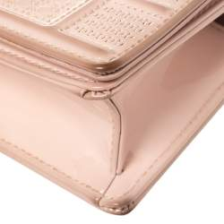 Dior Pink Micro Cannage Patent Leather Baby Diorama Crossbody Bag