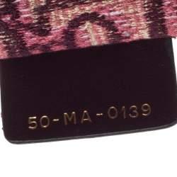 Dior Burgundy Oblique Canvas Book Tote