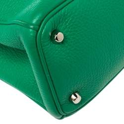 Dior Green Leather Medium Diorissimo Shopper Tote