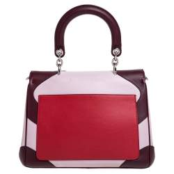 Dior Tri Color Leather Small Be Dior Flap Top Handle Bag