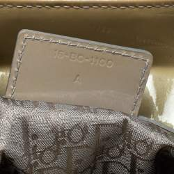 Dior Light Olive Cannage Patent Leather Large Lady Dior Tote