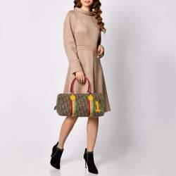 Dior Multicolor Oblique Coated Canvas and Leather Rasta Boston Bag