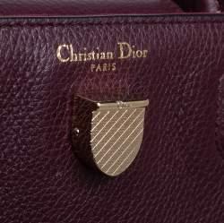 Dior Burgundy Pebbled Leather Mini Diorever Tote