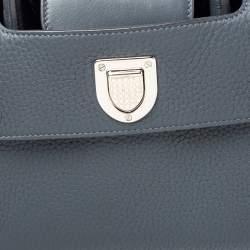 Dior Grey Pebbled Leather Mini Diorever Tote
