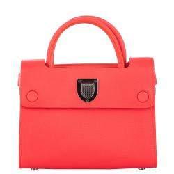 Dior Red Leather Diorever Satchel Bag