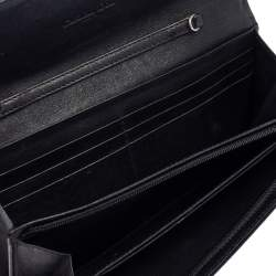 Dior Black Patent Leather Ultimate Rendezvous Flap Continental Wallet