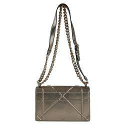 Christian Dior Metallic Brown Diorama Small Shoulder Bag