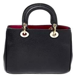 Dior Black Leather Mini Diorissimo Tote