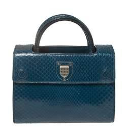Dior Blue Python Mini Diorever Bag