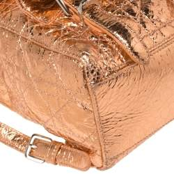 Dior Metallic Rose Gold Cannage Leather Stardust Backpack