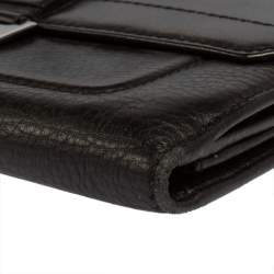 Dior Black Leather Street Chic Continental Wallet