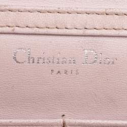 Dior Light Pink Leather Diorama Chain Clutch