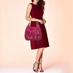 Dior Pink Leather 61 Bejeweled Hobo
