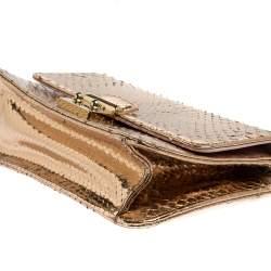 Dior Gold Python Miss Dior Promenade Crossbody Bag