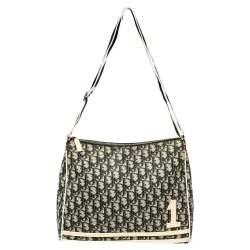 Dior Black Oblique Coated Canvas Crossbody Bag
